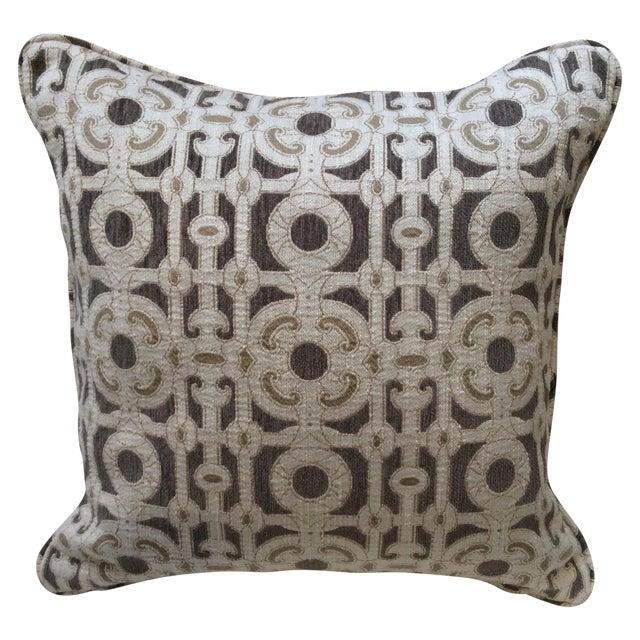 Cream & Brown Custom Pillow - Image 1 of 8