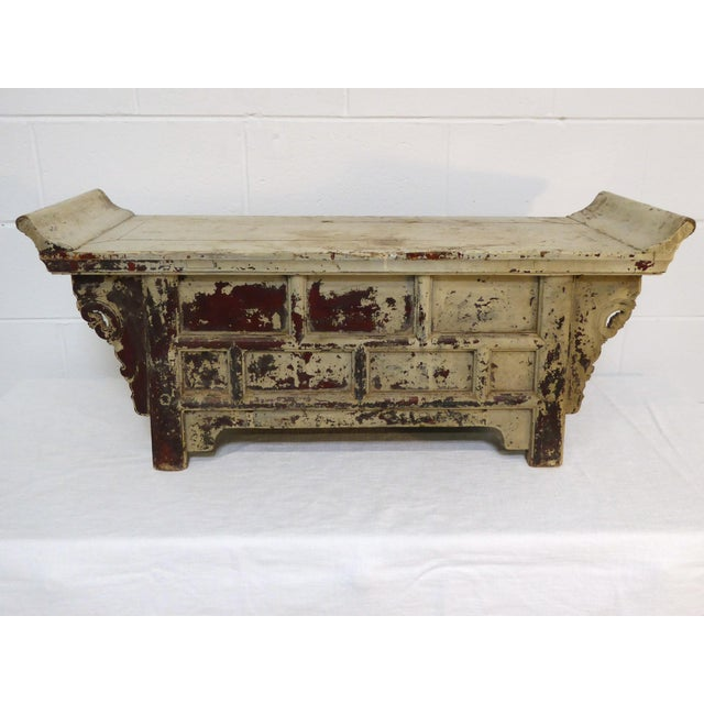 Asian Antique Ming Altar Table For Sale - Image 3 of 11