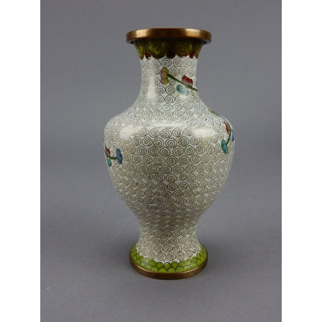 Antique Chinese Cloisonne Vase For Sale - Image 6 of 11