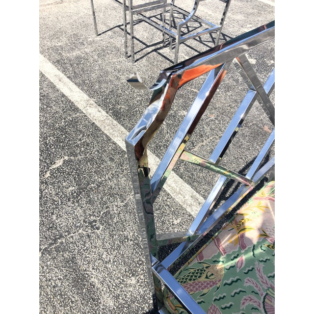 Dia Chinese Chippendale Chrome Dining Chairs - a Pair For Sale In Miami - Image 6 of 10