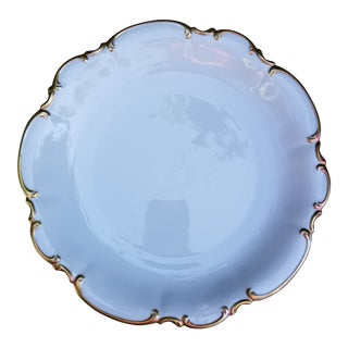 Shabby Chic Gold Rim Bavarian Cake Plate by Hutschenreuther Selb For Sale