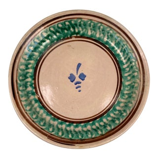 Pair - Hand Painted Italian 19th Century Green Plate Charger For Sale
