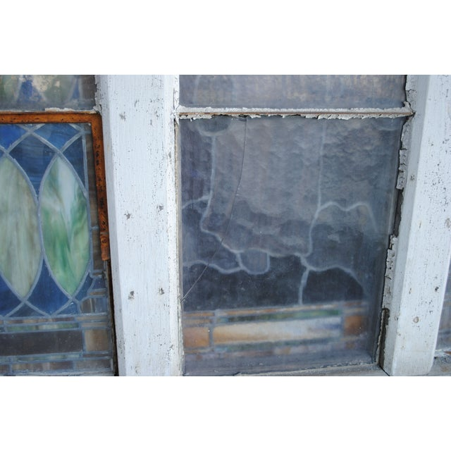 Antique Stained Glass Church Window - Image 8 of 8