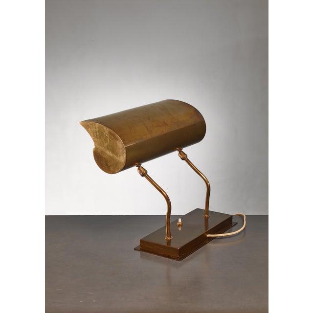 Gold Angelo Lelli Brassdesk Lamp for Arredoluce, Italy For Sale - Image 8 of 10