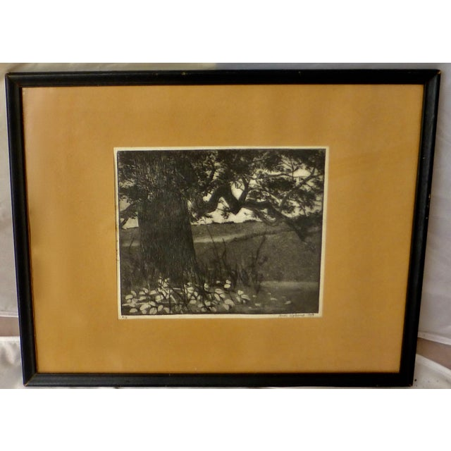 A beautiful black and white print by noted artist Ann Usborne. In overall excellent condition, the frame does show some...