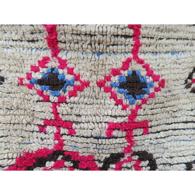 Pink Atlas' Moroccan Azilal Rug - 4′2″ × 8′10″ - Image 3 of 5