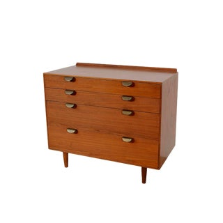 Mid Century Vintage Baker Furniture Finn Juhl Teak Dresser For Sale