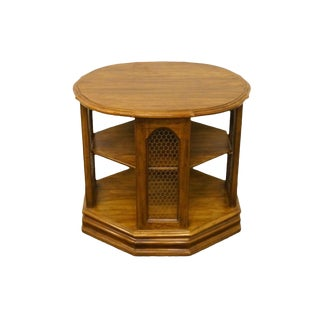 Davis Cabinet Co. Calais Cherry Tiered Accent End Table For Sale