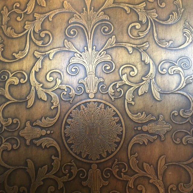 Americana Wood and Brass Credenza/Media Cabinent For Sale - Image 12 of 13