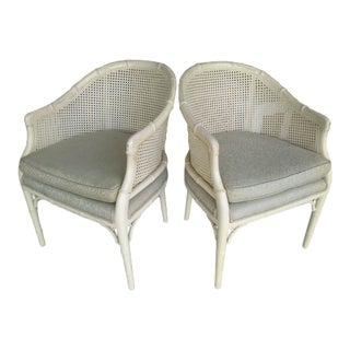 HWR Faux Bamboo Barrel Chairs- A Pair