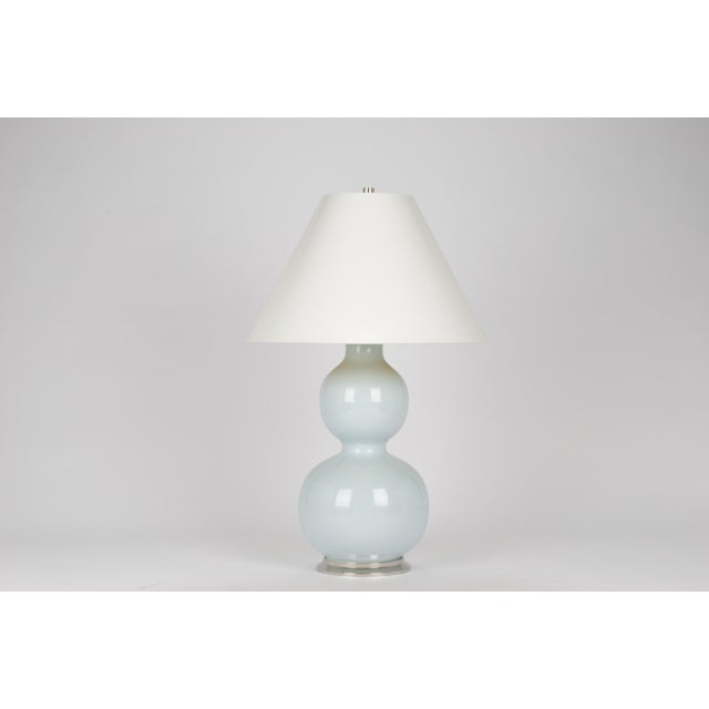 Contemporary Natalie Lamp in Powder Blue / Polished Nickel - Christopher Spitzmiller for The Lacquer Company For Sale - Image 3 of 3