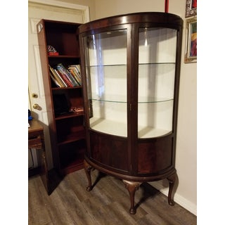 Antique Walnut Display Cabinet Preview