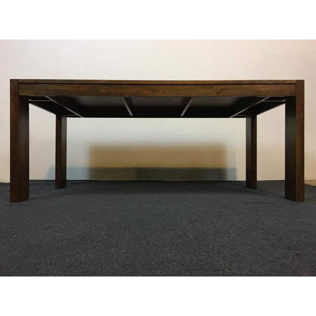 West Elm Contemporary Rustic Oak Dining Table - Image 4 of 7