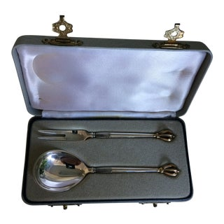 Sterling Hors d'Oeuvres Serving Utensils - a Pair For Sale