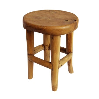 Round Teak Root Stool For Sale