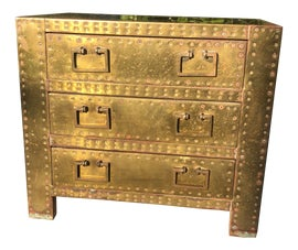 Image of Brass Nightstands