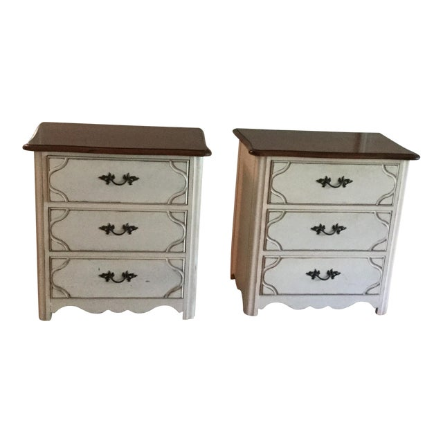 Drexel French Countryside Bedside Chests - a Pair For Sale