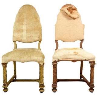 Pair of Antique Hand-Carved Chairs