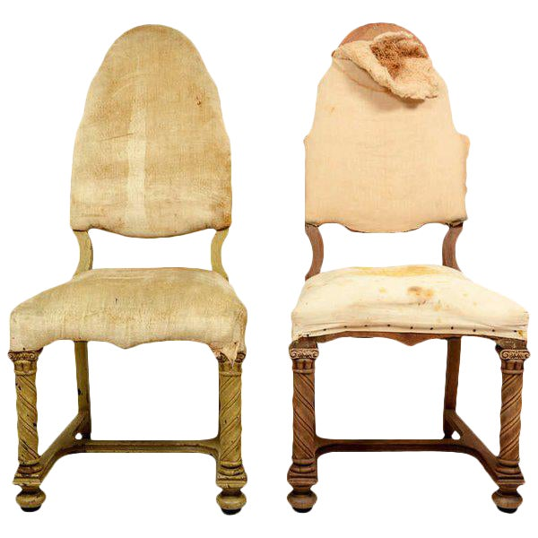 Pair of Antique Hand-Carved Chairs - Image 1 of 8