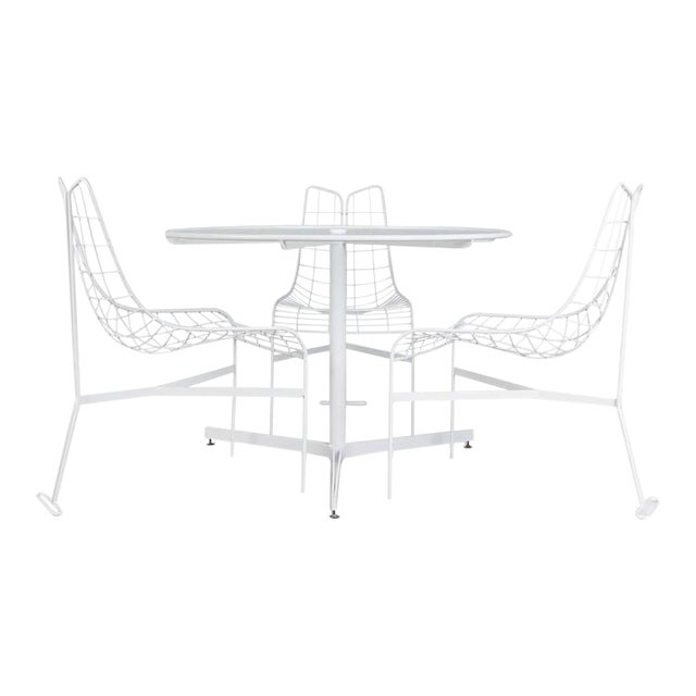"Vladimir Kagan Restored ""Capricorn"" Outdoor Dining Set - S/4 For Sale"