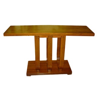 Art Deco Gilbert Rohde Heywood Wakefield Console Dining Table For Sale