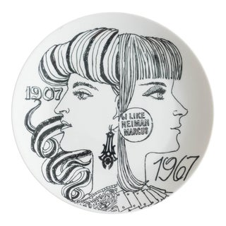 Vintage 1967 Neiman Marcus Anniversary Plate by Piero Fornasetti For Sale