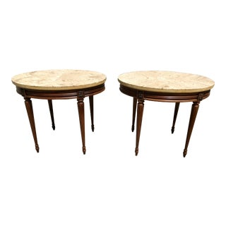 1920s French XVI Side/Accent Tables - a Pair For Sale
