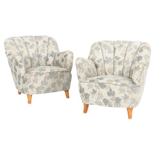 Mid Century Swedish Club Chairs- A Pair For Sale