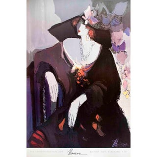 "ISAAC MAIMON Francesca 36"" x 24"" Poster 1992 Multicolor - a Pair For Sale"