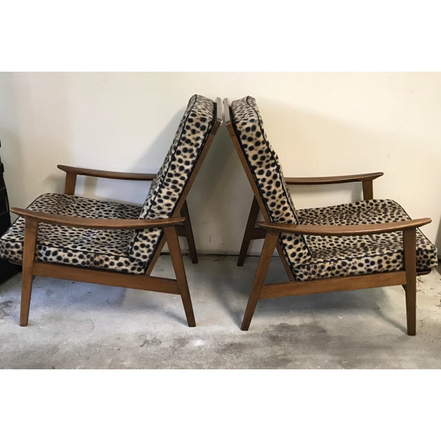 Vintage Danish Modern High Back Armchairs - A Pair - Image 5 of 11