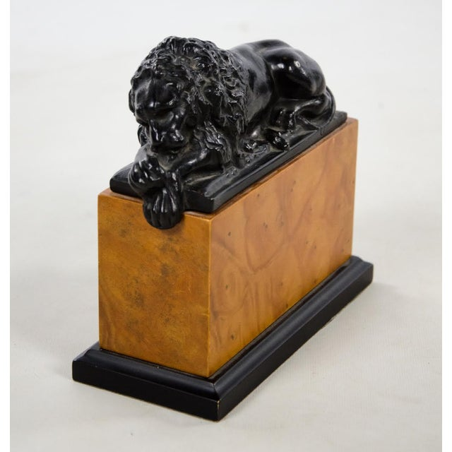Italian Neoclassical Style Lion Bookends - a Pair For Sale - Image 4 of 9