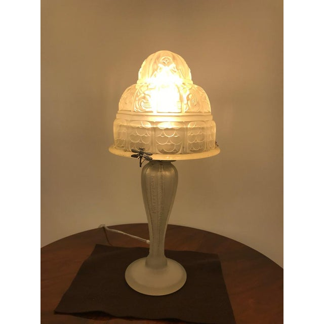 French Art Deco Table Lamp by Gênet et Michon - Image 9 of 10