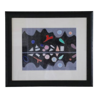 Elaine Kaufman Feiner, Abstracted Landscape on Paper For Sale