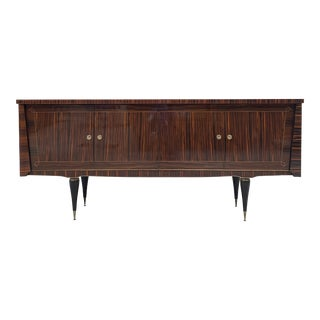 1940s Art Deco Macassar Ebony Sideboard/Credenzas/Buffet For Sale