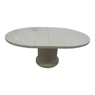 Enrique Garcel Tessellated Bone Dining Table W 2 Leaves For Sale
