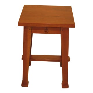 Stickley Roycroft Model Cherry Tabouret Occasional Table For Sale