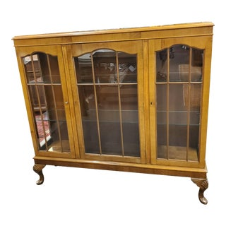 Antique Robson & Sons Display Cabinet For Sale