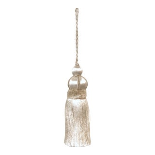 Ivory Key Tassel W Cut Velvet Ruche For Sale