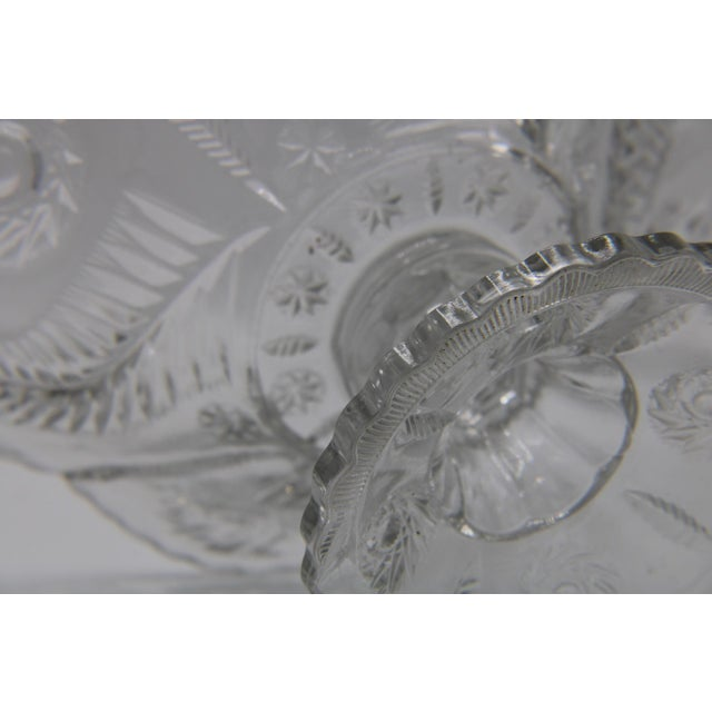 Mid-Century French Crystal Cut Glass Compote For Sale - Image 9 of 13