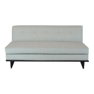New Upholstery John Widdicomb Mid Century Modern Loveseat Couch For Sale