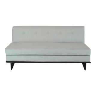 New Upholstery John Widdicomb Mid Century Modern Loveseat Couch For Sale