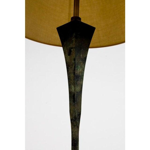1960s Hansen Verdigris Patinated Floor Lamps - a Pair For Sale - Image 5 of 9