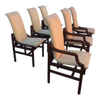 Vintage Henredon Walnut Dining Chairs - Set of 6