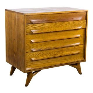 Vanleigh Furniture Mid-Century Modern Four Drawer Dresser Desk
