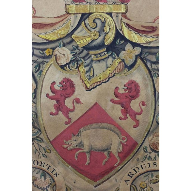 Early 19th Century Framed Coat of Arms for Cassidy For Sale - Image 5 of 8