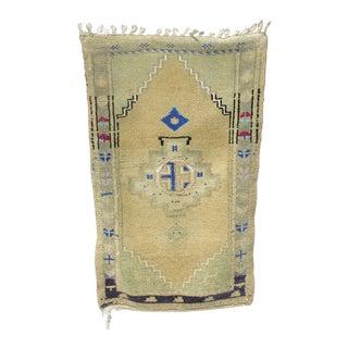 Vintage Mid-Century Oushak Yastik Rug - 2′ × 3′4″ For Sale