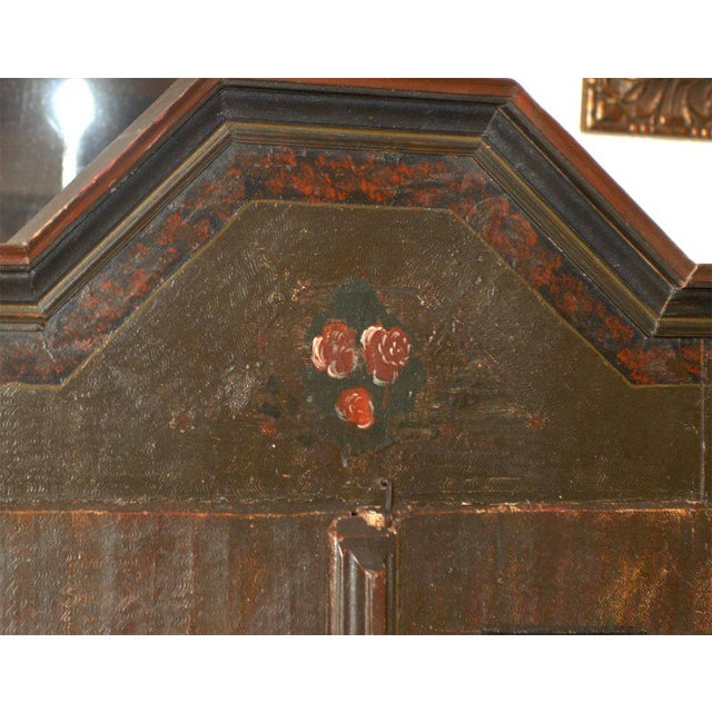 Baroque 19th Century Baroque Painted Swiss Marriage Armoire For Sale - Image 3 of 5