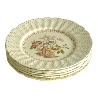 Mid 20th Century Vintage Chinoiserie Dinner Plates - Set of 6 For Sale
