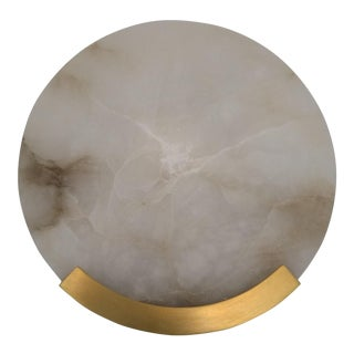 Kelly Wearstler for Visual Comfort Contemporary Alabaster Wall Sconces - a Pair