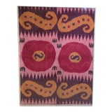 Image of Antique Silk Ikat Display in Lucite Shadowbox For Sale